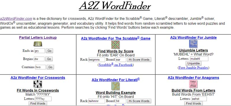 a2z wordfinder