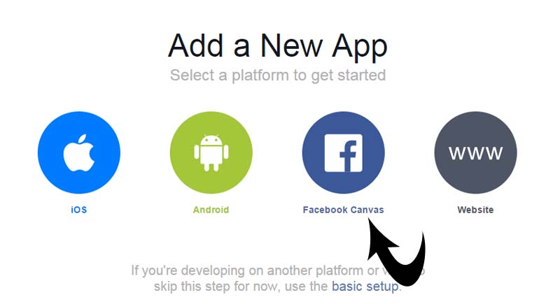 adding new facebook app
