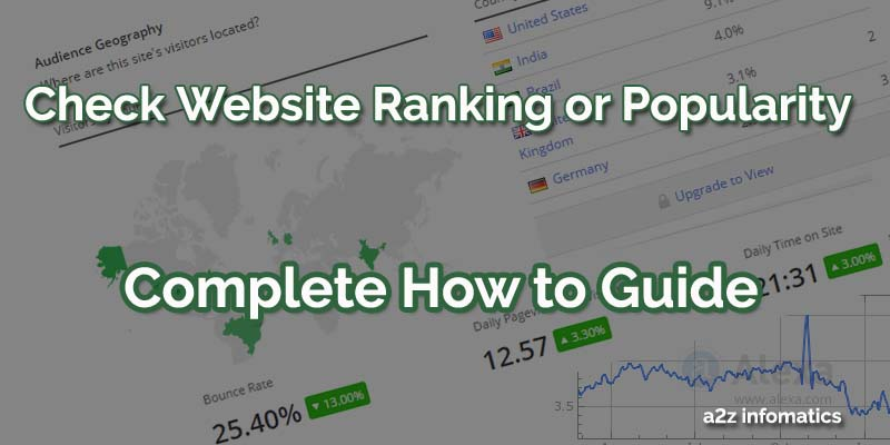 Check Website Ranking using Easy Tips