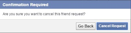 Confirm Cancel Request