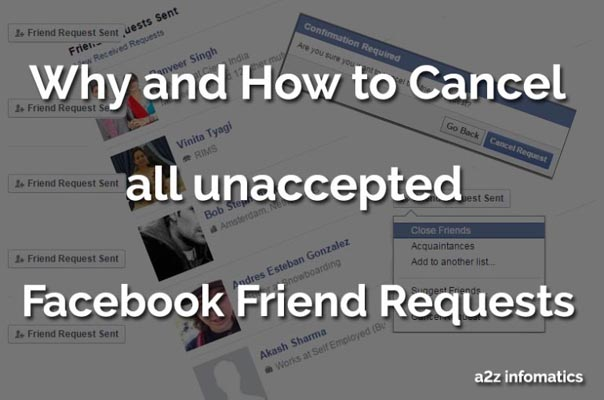 Cancel Facebook Friend Requests