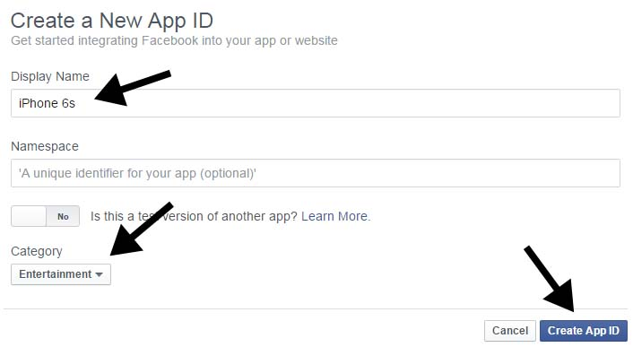 how to get app id of facebook page