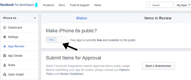 facebook app privacy