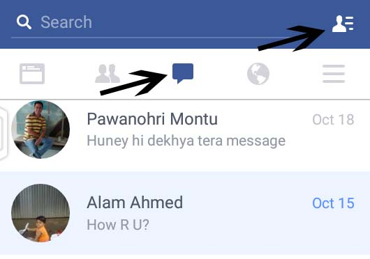 facebook message options