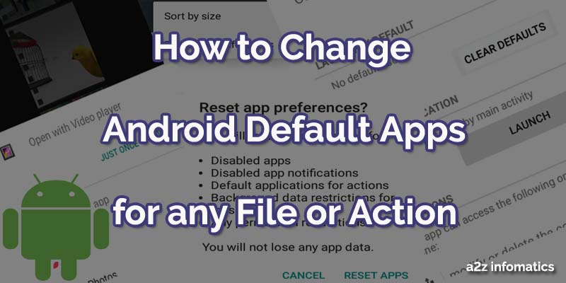 How to change Android default apps