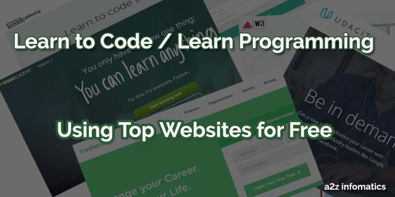 learn Programming using Top Websites