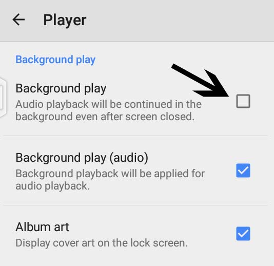 MX Player background play