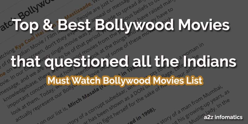 Top Best Bollywood Movies