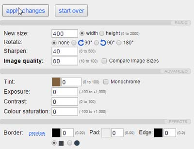customizations to reduce image size
