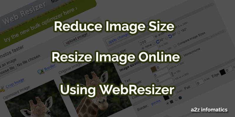 reduce image size using webresizer