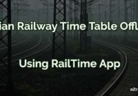 how to check indian railway time table offline