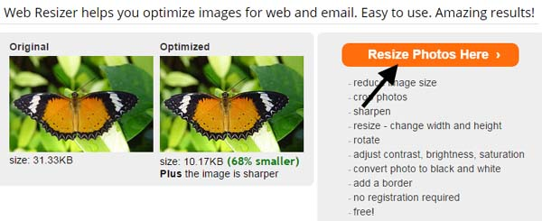 reduce image size button