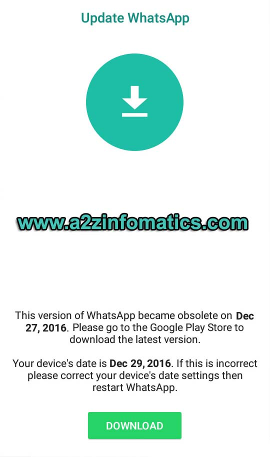 Open WhatsApp Obsolete version
