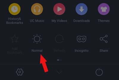 uc browser normal mode activation