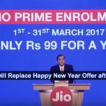 JIO Prime Offer will Replace Happy New Year Offer after March 31 2017