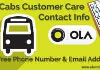 Ola Cabs Customer Care Contact Information Toll Free Phone Number Email