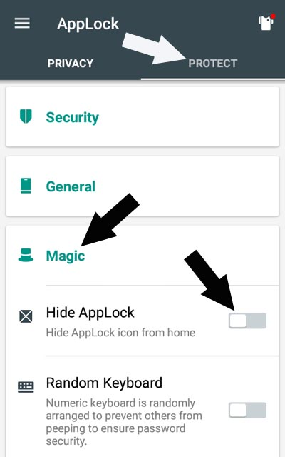 applock magic hide applock icon
