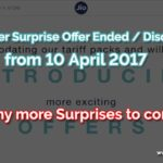 Finally JIO Summer Surprise Offer Ended on 10-4-2017