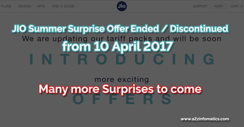 jio surprise offer ended on 10-4-2017