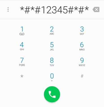 open applock using phone dialer