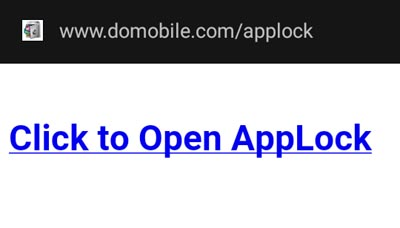 open applock using web browser