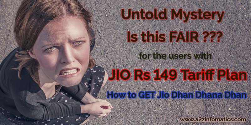 How to get Jio Dhan Dhana Dhan Offer for Rs 149 Plan Recharge Users