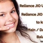 Reliance Jio USSD Codes / SMS Codes to Check Data Balance