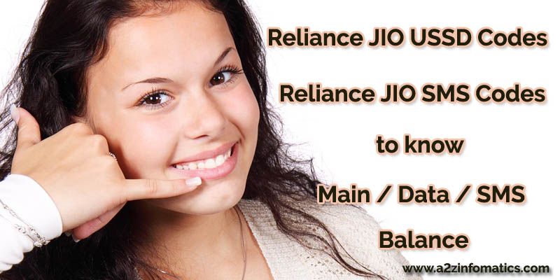Reliance Jio USSD Codes SMS Codes to Check Data Balance
