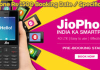 JioPhone Rs 1500 Booking Date Specification Delivery Date Recharge Plans
