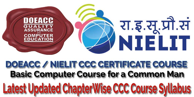 latest updated chapter wise doeacc nielit ccc certificate course exam syllabus