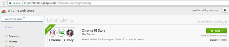 chrome ig story extension