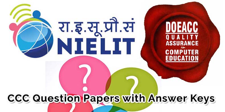 ccc question answer previous year solved question paper set I
