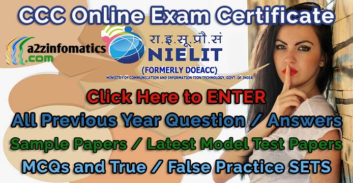 CCC Exam 2019 Question Answer / Previous Year Sample Practice Papers PDF