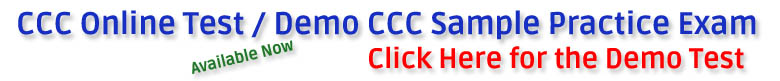 ccc online test demo sample practice exam available now