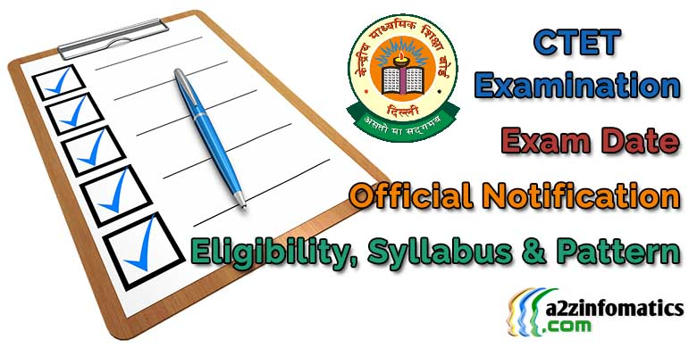 CTET Exam Date Notification Online Application Form Registration