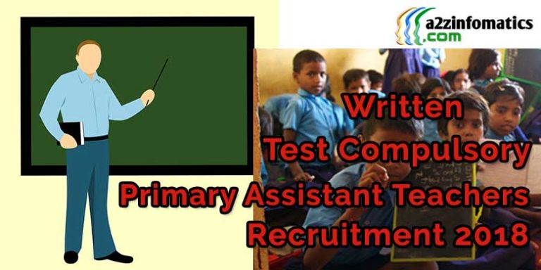 UPTET Written Test Compulsory for Primary Assistant Teachers Recruitment exam 2018