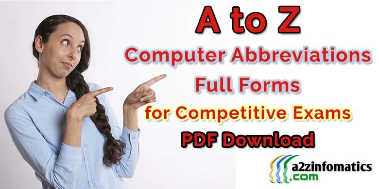 atoz computer abbreviations full forms for competitive exams pdf download