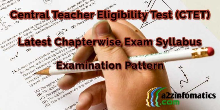 latest ctet examination syllabus pattern pdf format download