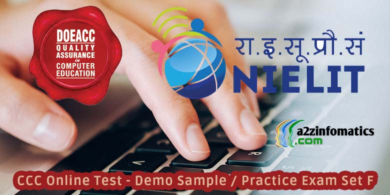 CCC Online Test Demo Sample Practice Exam Set F