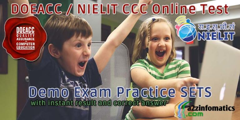 doeacc nielit ccc online test free demo practice exam sets
