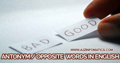 top antonym opposite words in english